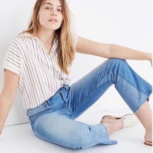 Madewell Cali-Demi Boot Jeans Inset Edition 28